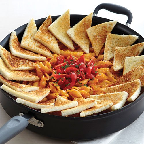 Grilled Cheese & Tomato Skillet