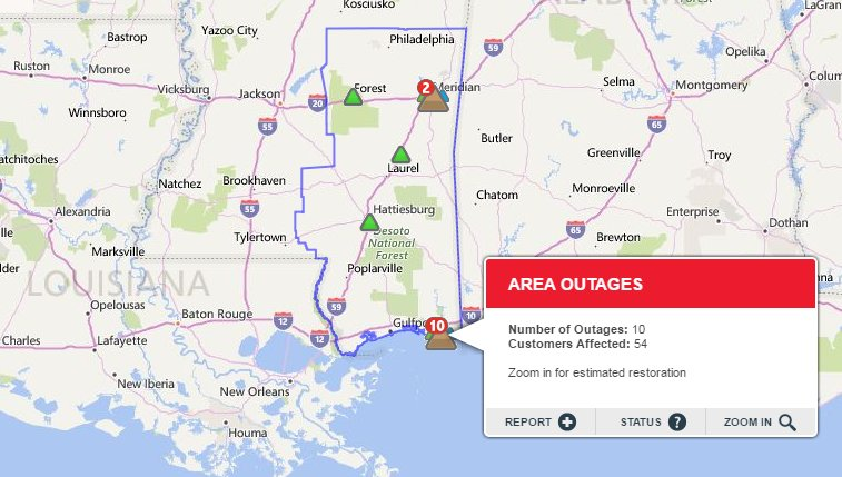 Wesley Williams On Twitter Now Dozens Without Power In South Ms