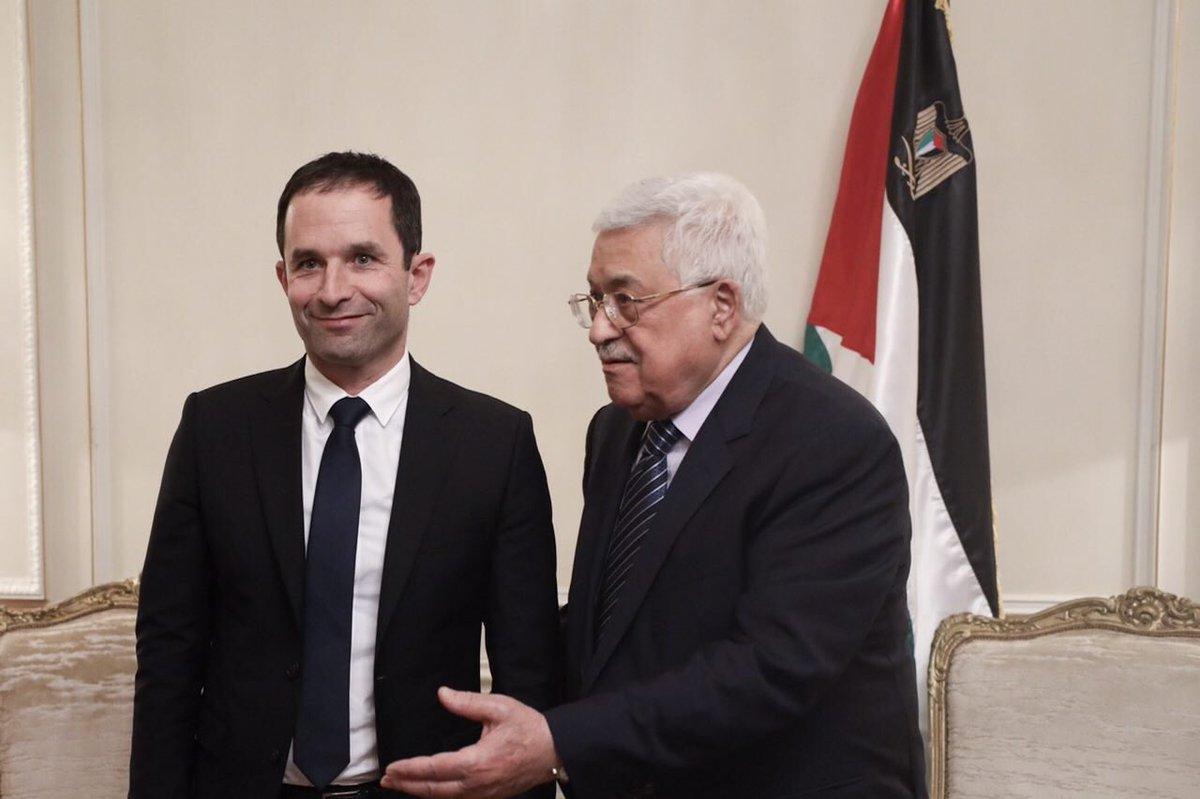 Entretien avec Mahmoud Abbas ce soir. Élu président, je reconnaîtrai l'Etat de #Palestine, condition d'une relance du processus de paix.