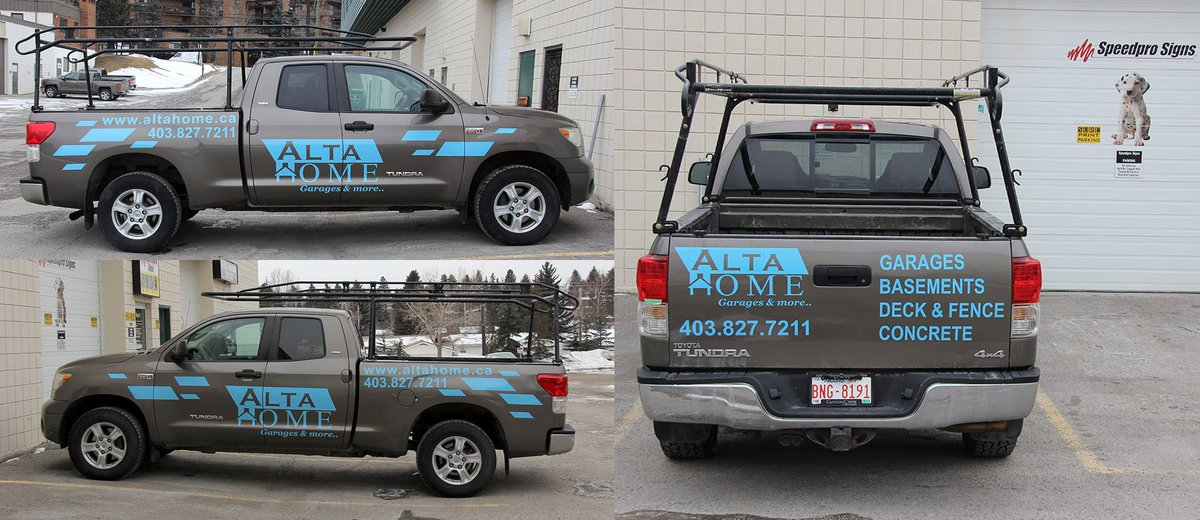 Speedpro signs on twitter installed truck decals for alta home thank you vinyl decals custom business marketing calgary yyc speedprosouth