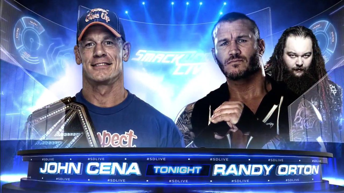 STILL TO COME: For the first time ever on #SDLive, @JohnCena faces @RandyOrton LIVE, coming up on @USA_Network!
