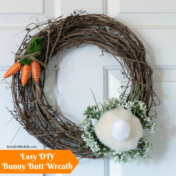 Easy DIY Bunny Butt Wreath
