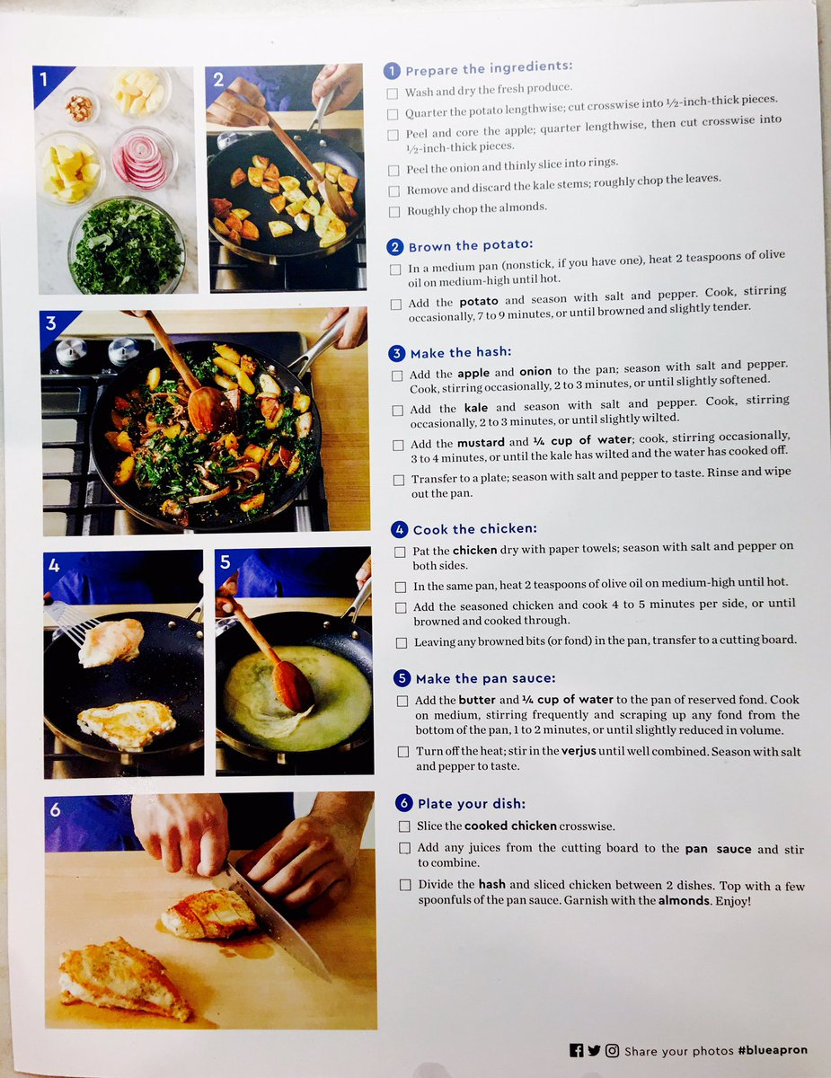 Blue apron kale hash - Ben Rogers On Twitter Thank You Blueapron Seared Chicken Pan Sauce With Apple Kale Potato Hash Go To Https T Co 2hq9uobtpi And Use The Promo