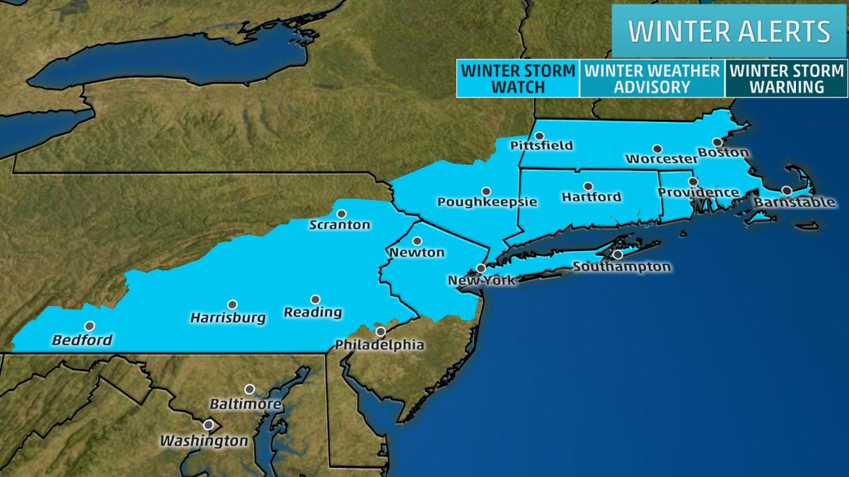 storm watches have been issued for new york city and
