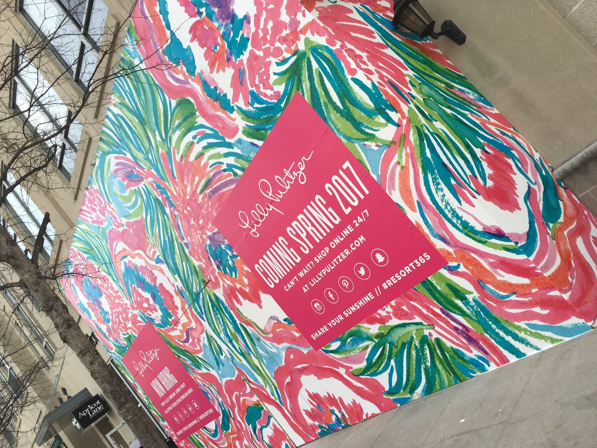 @LillyPulitzer is working hard on their soon to be beautiful store at #NorthHills! We can't wait!