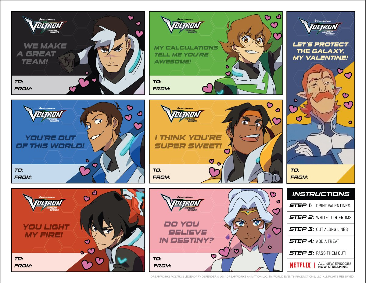 Voltron On Twitter Print Out These Voltron Valentine S Day Cards