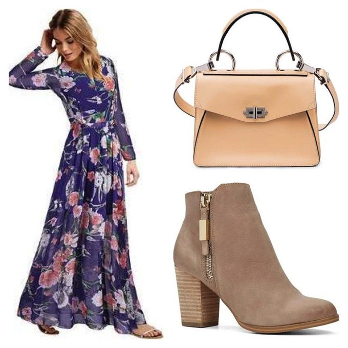 Chiffon Floral Dress #ootd #fashionpost #style #lookbook