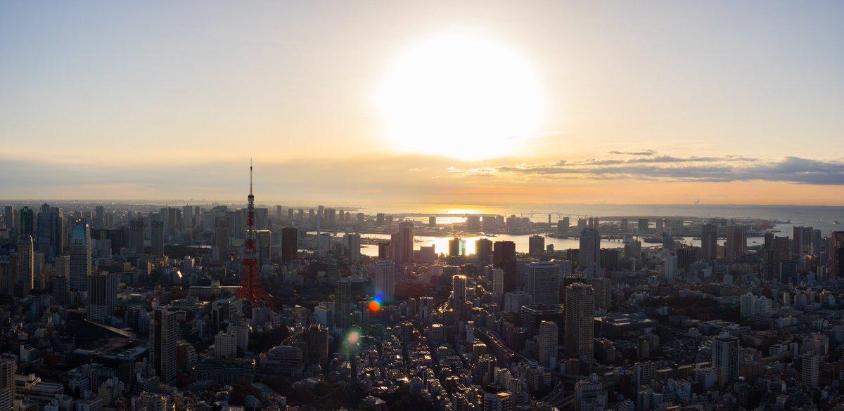 おはようございます。雲が少しあって変化のある綺麗な朝日でした。 東京タワー、富士山側の両側をお届けし…