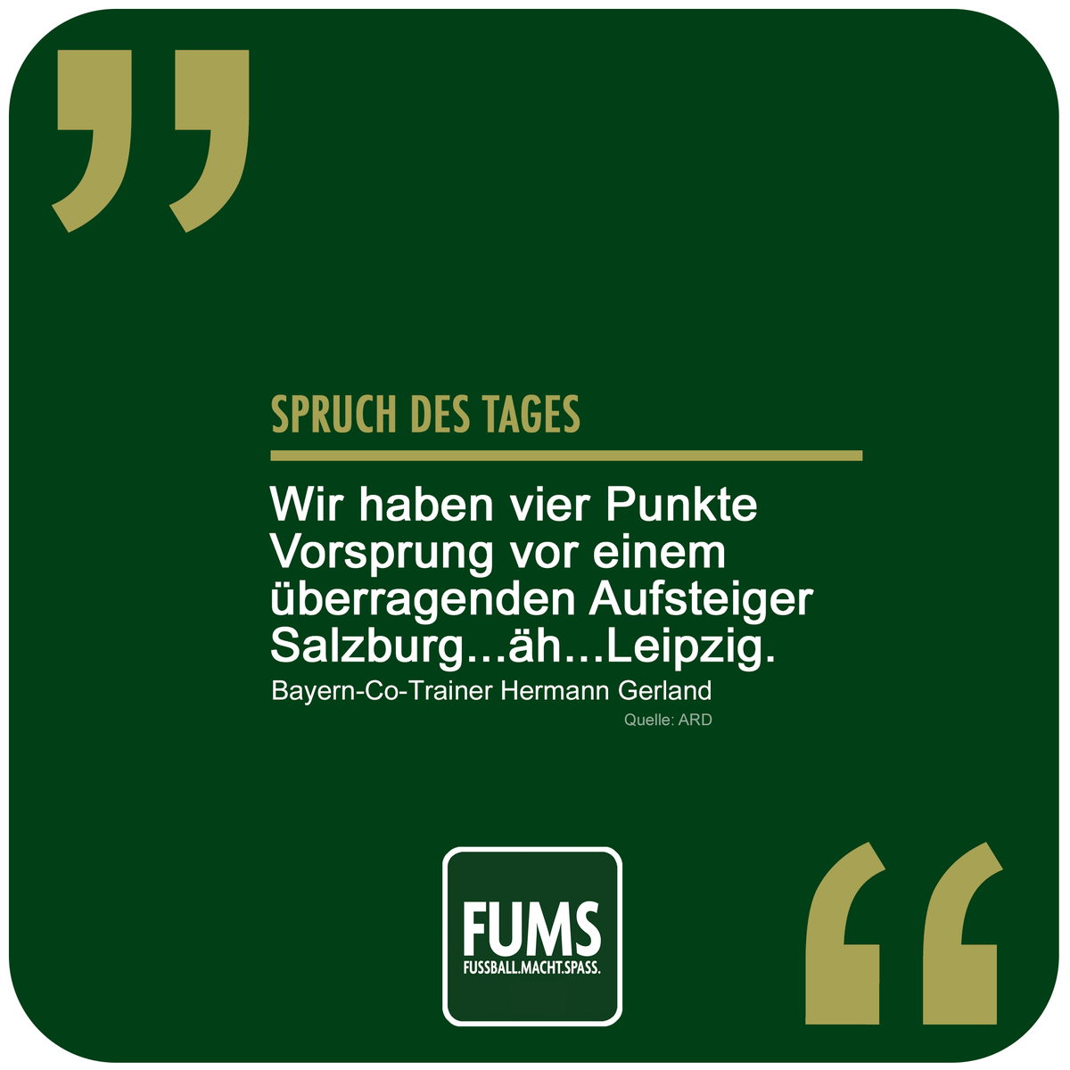 Fums On Twitter Heftig Heute Drei Sprüche Des Tages