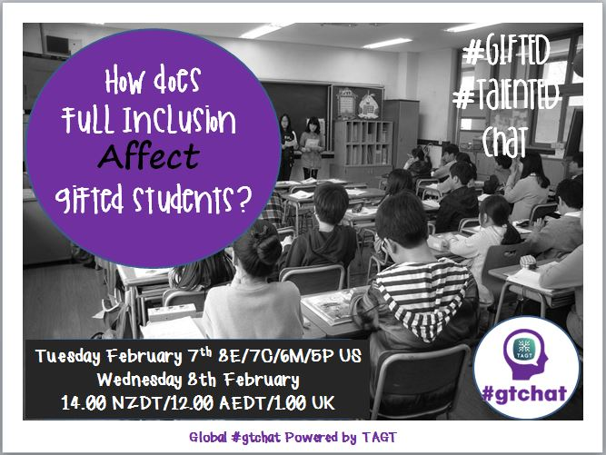 Thumbnail for #gtchat: How Does Full Inclusion Affect Gifted Students?