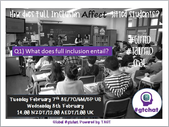 Q1) What does full inclusion entail?  #gtchat https://t.co/0M2L4bQlZQ