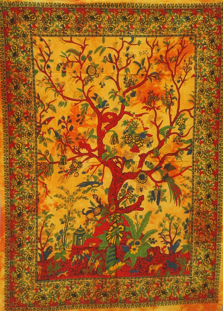 #TreeofLife #WallHanging #Postes #Indian Cotton #Tapestries Orange Boho Decor Throw Wall Decor @amazonca  https:// goo.gl/ppOqCP  &nbsp;  <br>http://pic.twitter.com/EsvgTNfMy2