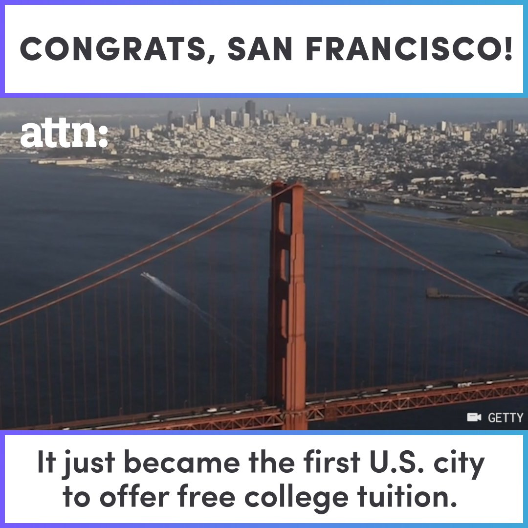 BREAKING: San Francisco just became the first U.S. city to offer free community college. https://t.co/KMjjnCD8D1