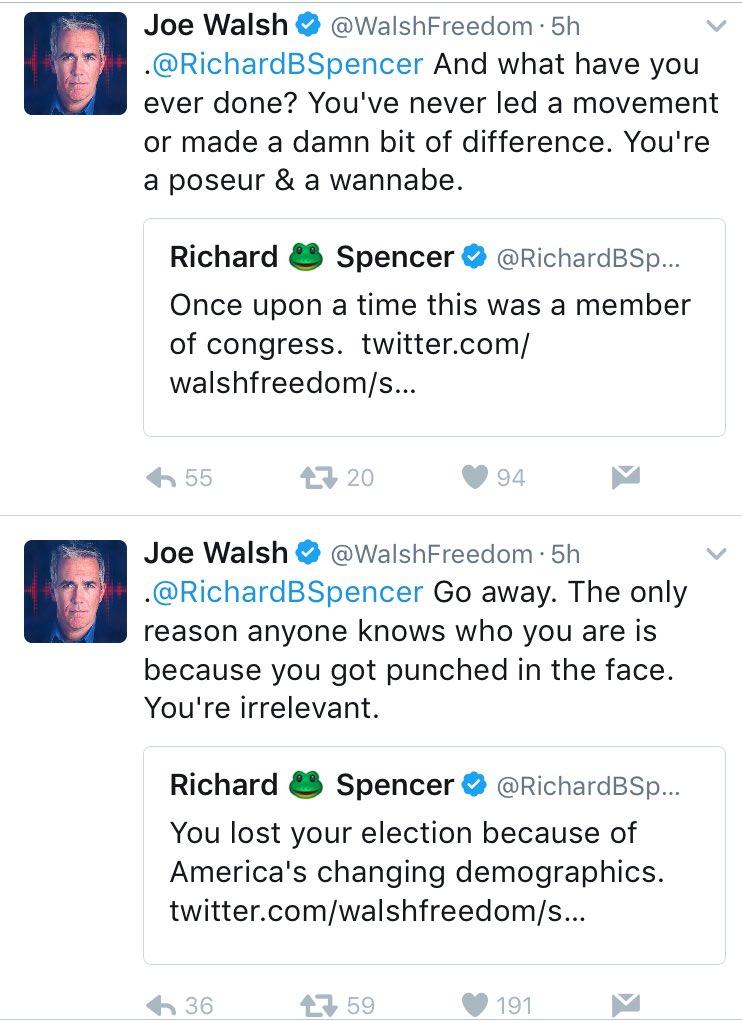 Image result for richard spencer joe walsh