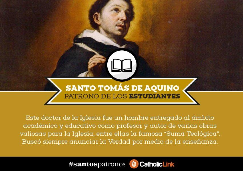 Frases De Santos On Twitter Santo Tomás De Aquino Patrono De Los