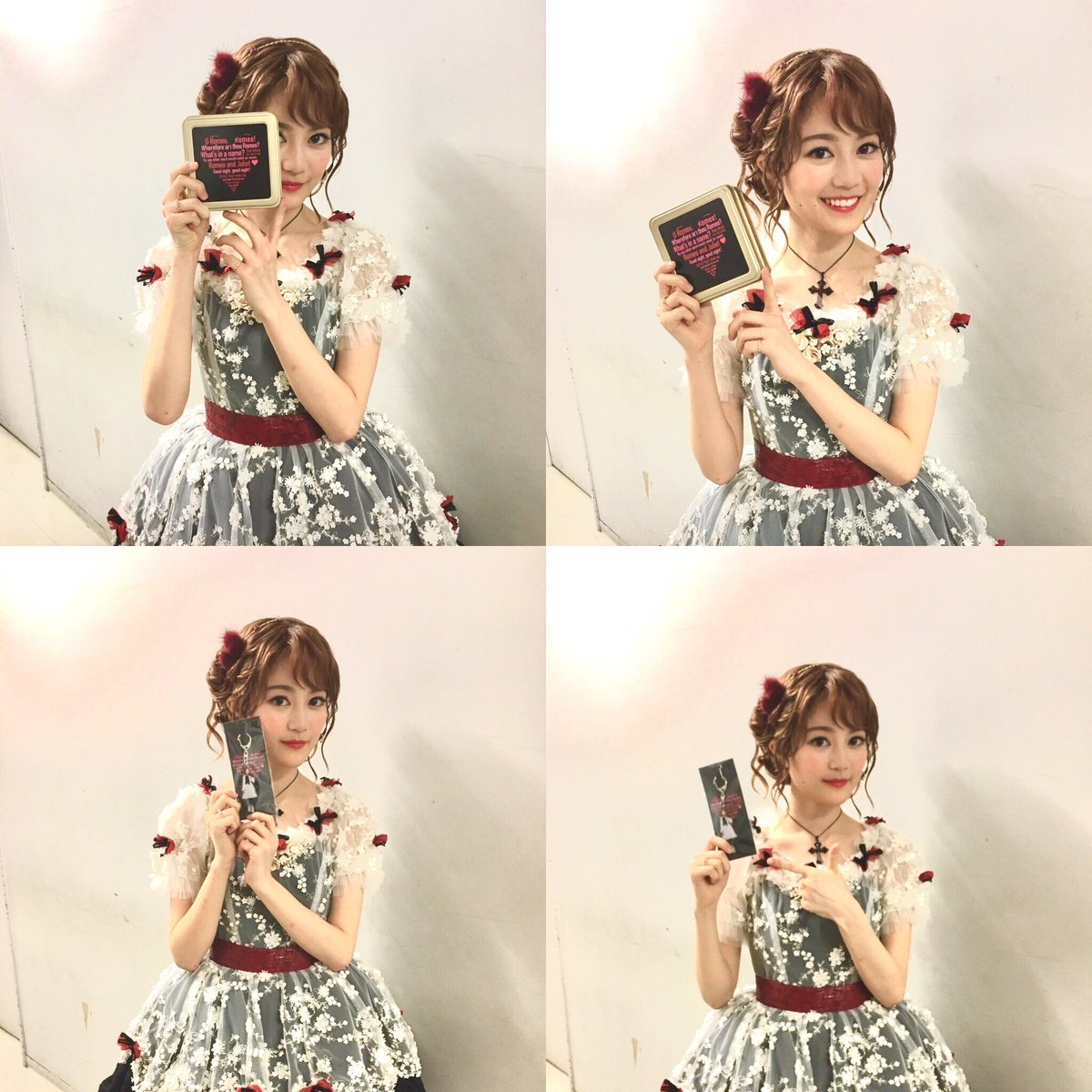 チョコレートからこんにちは♪舞踏会衣装の #生田絵梨花 さんをキャッチ!可愛すぎて連写してしまいました。 #ジュリエット #ロミジュリ https://t.co/2H4O5ecjmd