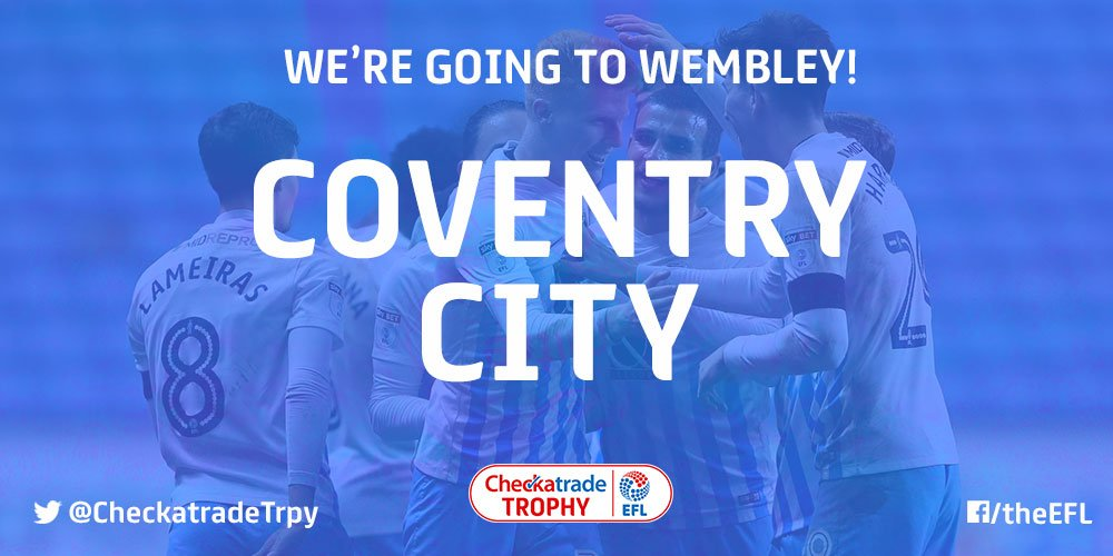 Good morning, @Coventry_City.  Fancy a trip to Wembley?...  #Checkatra...