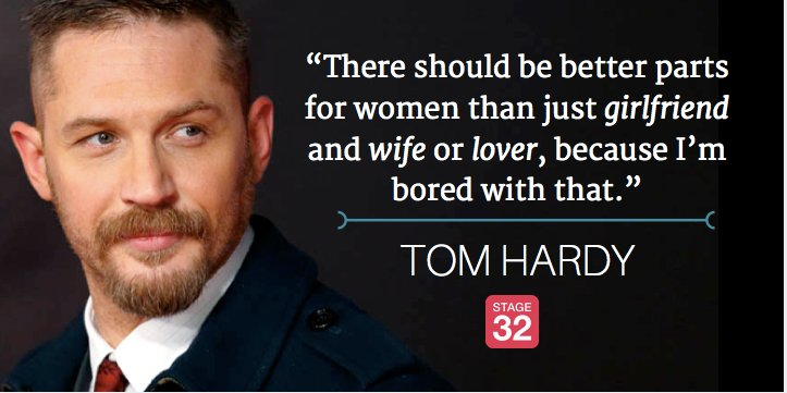 Do you agree with actor Tom Hardy?   #womeninfilm #filmmaking #actor https://t.co/QTEa0rFeOB