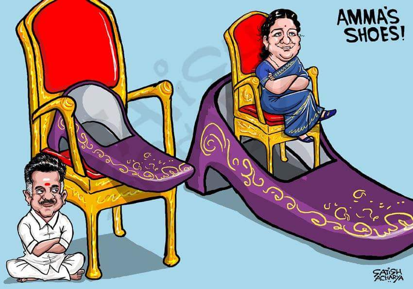 Image result for Sasikala cartoons