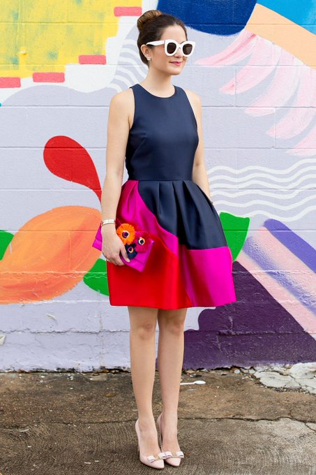 Hutch Designs Color Block Dress