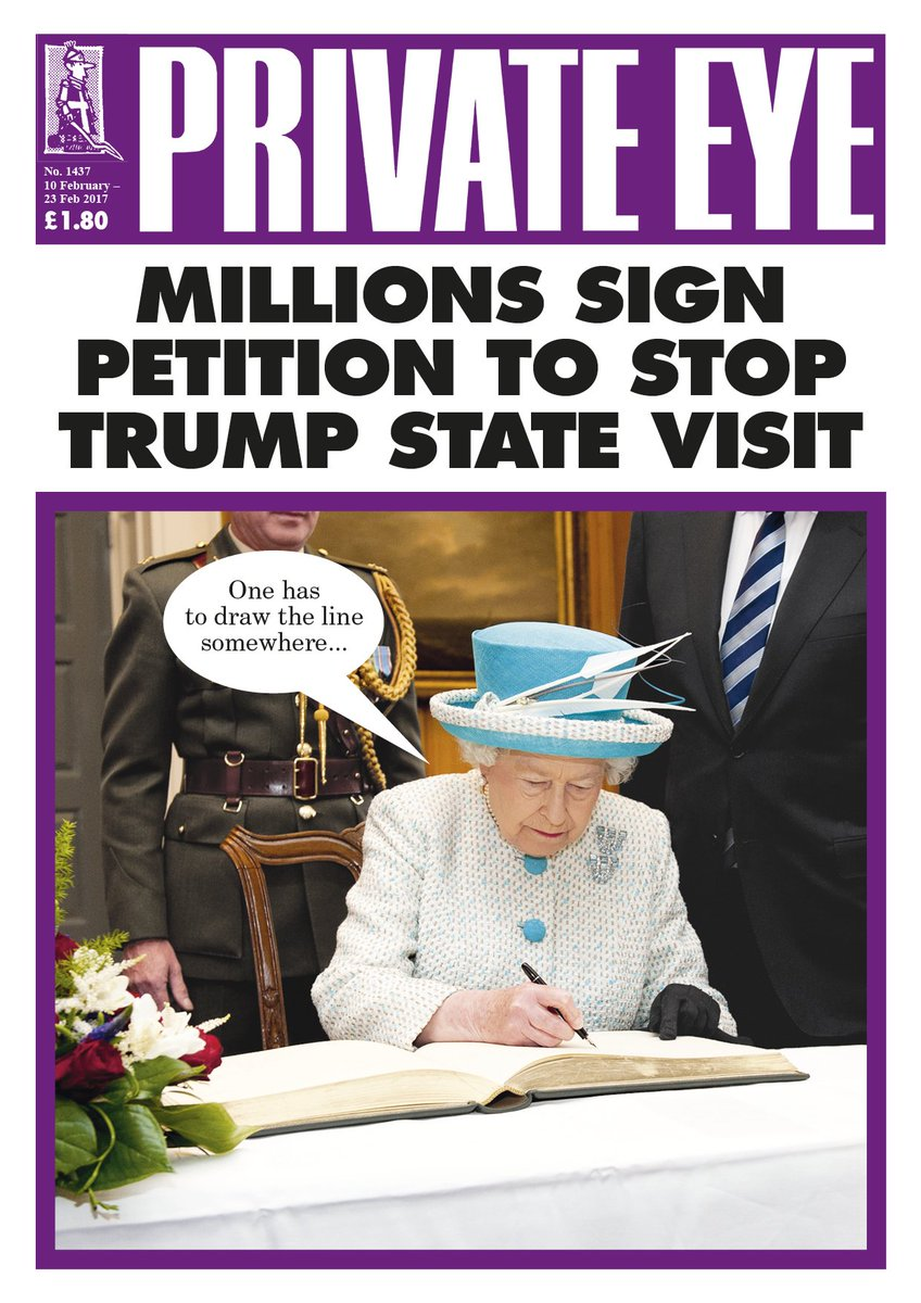 Millions sign petition to stop Trump state visit. The new Eye is out now. https://t.co/8BBFWGGkYD