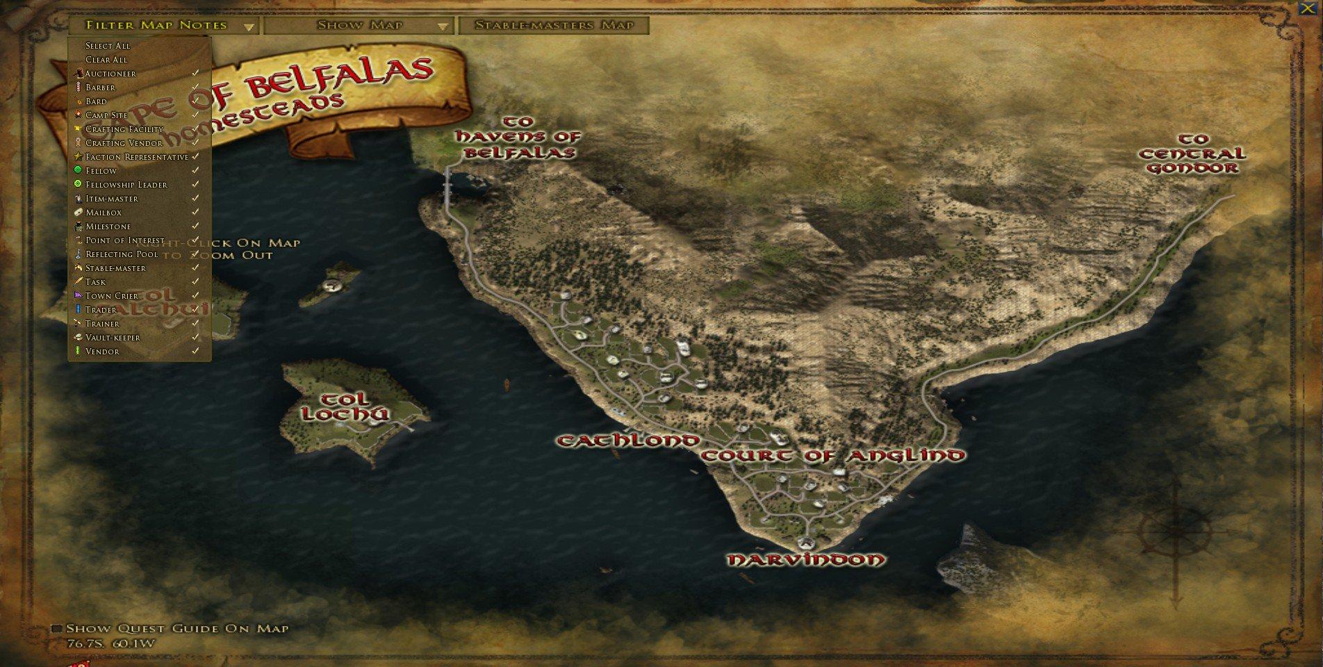 Cape of belfalas pls add npc map flag locations gumiabroncs Gallery