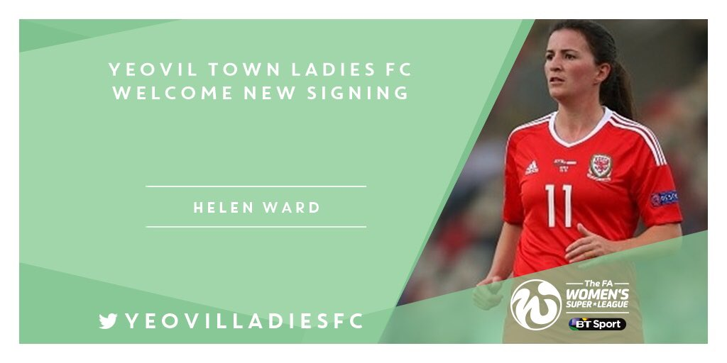 Yeovil Town Ladies welcome Welsh International Helen Ward