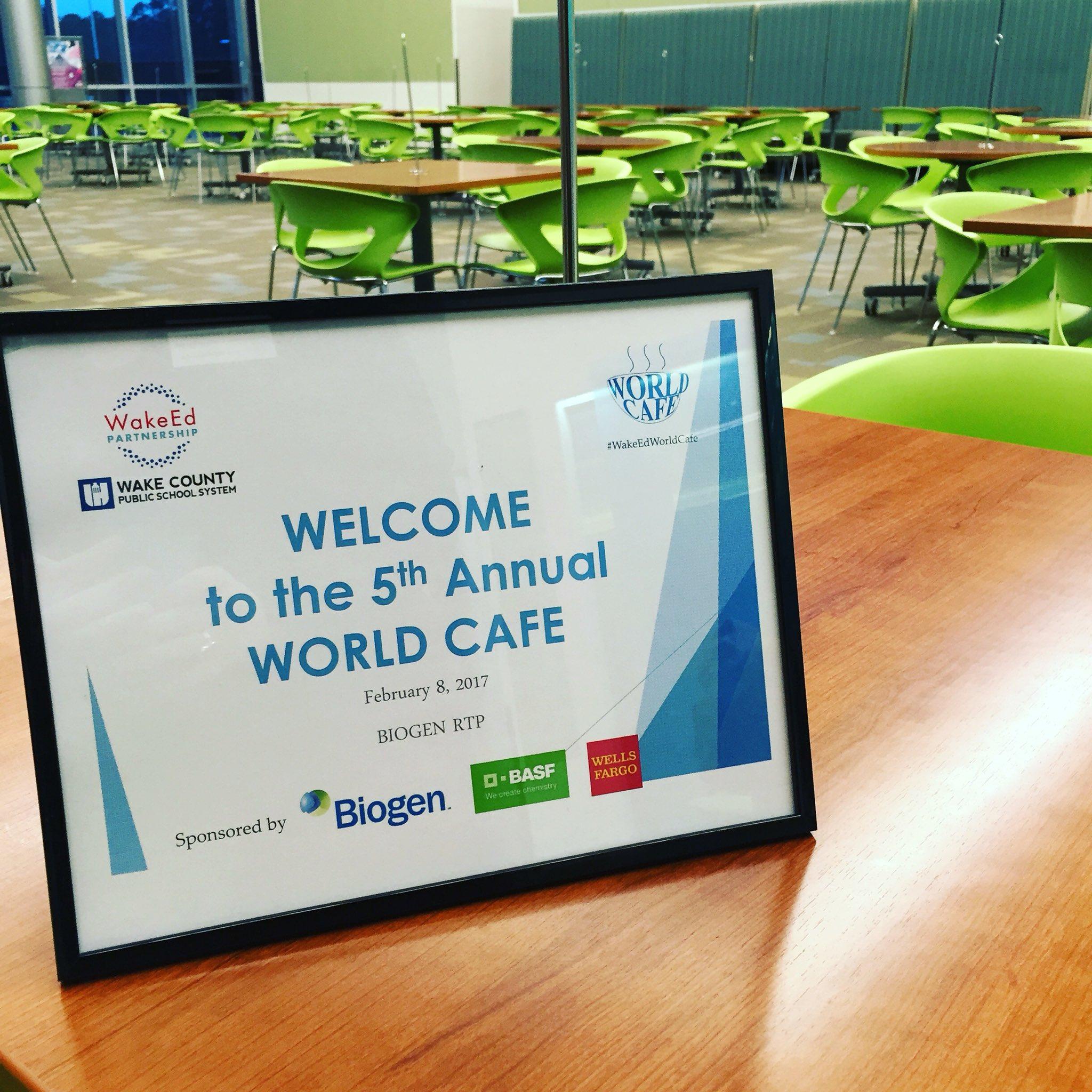 Welcome to #WakeEdWorldCafe! https://t.co/zTgGqlAEFu