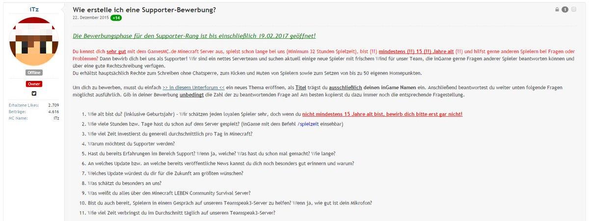 Bewerbung Zum Supporter Greev Eu Forum
