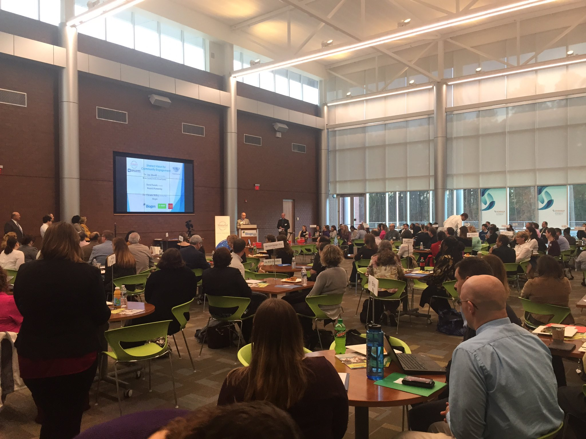 .@JamesMerrill13 addressing the business community to kickoff 5th annual #WakeEdWorldCafe Amazing collaborative effort to partner w/ schools https://t.co/wCisi8BFQ4