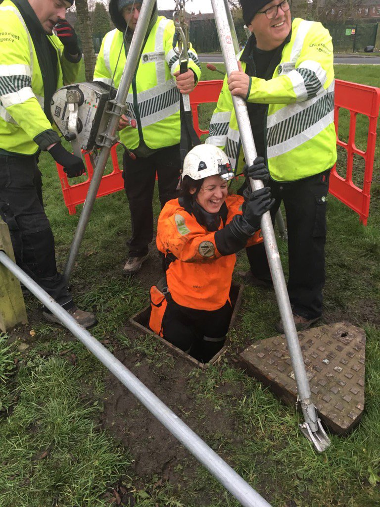 lee rawlinson on ops mngr karen glasgow in culvert to lee rawlinson on ops mngr karen glasgow in culvert to clear prevent flood want a varied skilled and exciting job