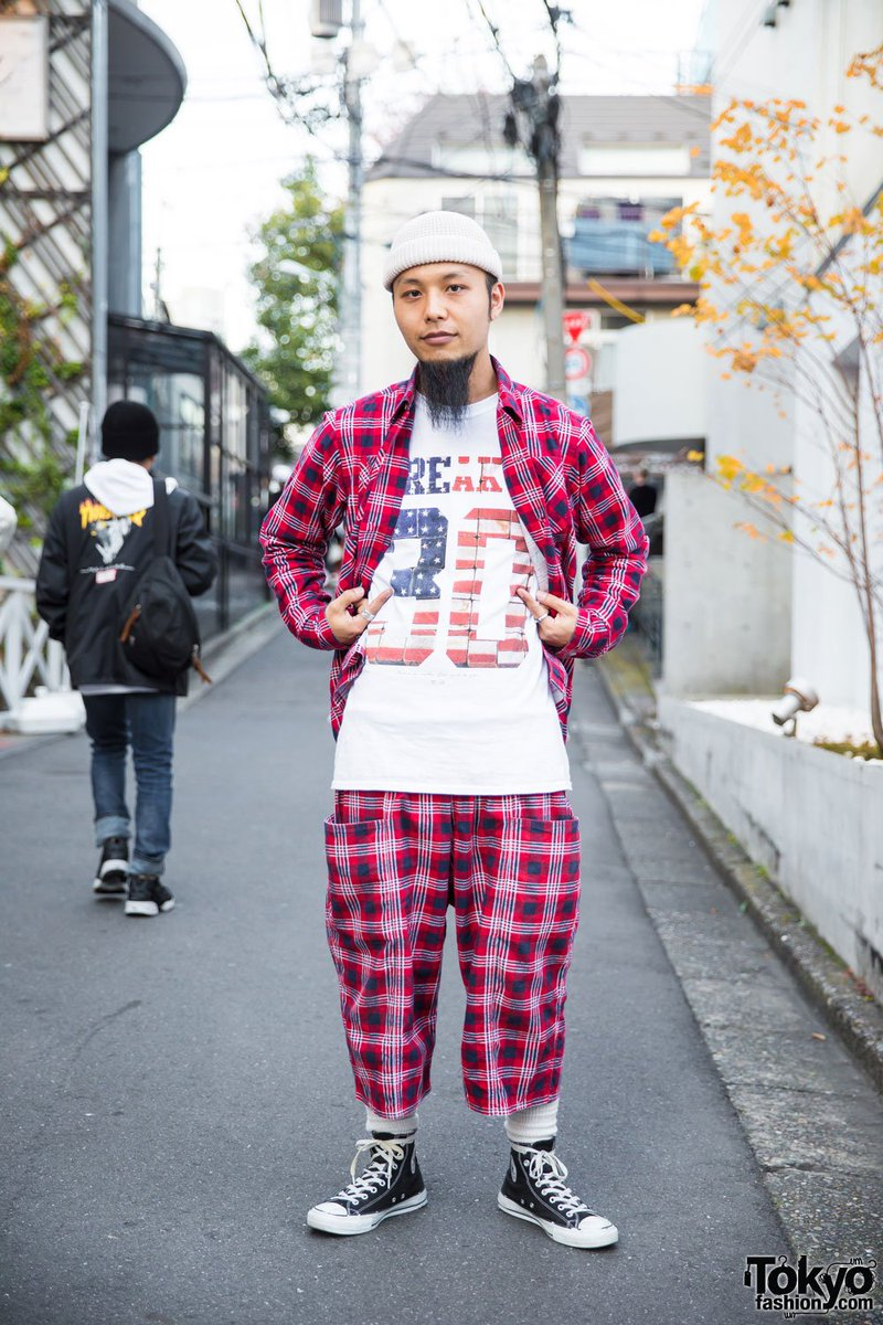f4f155e74ffcee harajuku guy in plaid street style by south2west8 and converse high top  sneakers