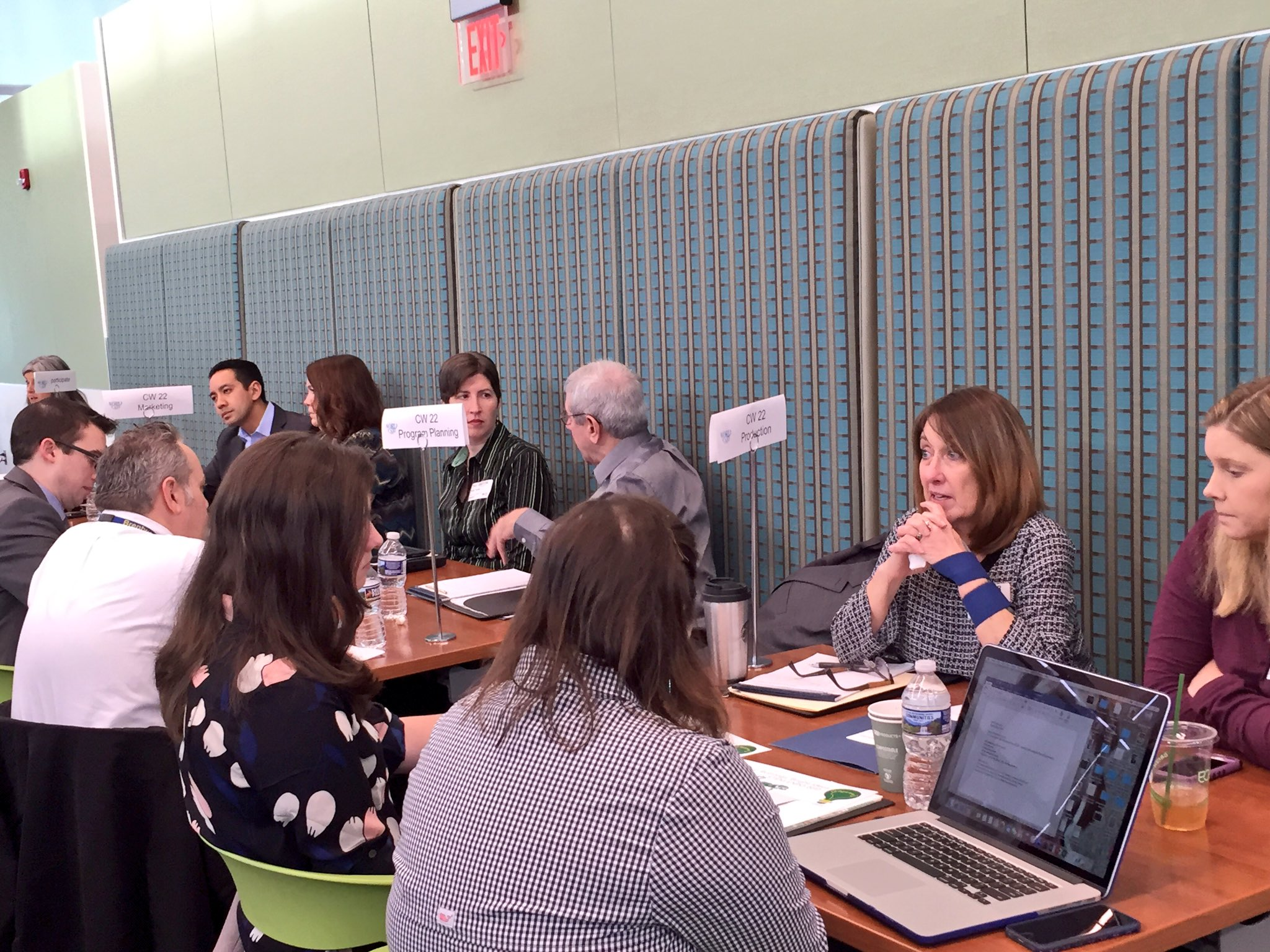 .@thecw22 was one of four businesses that sent multiple teams to collaborate with educators today! #WakeEdWorldCafe https://t.co/qgSIGxmk1Z