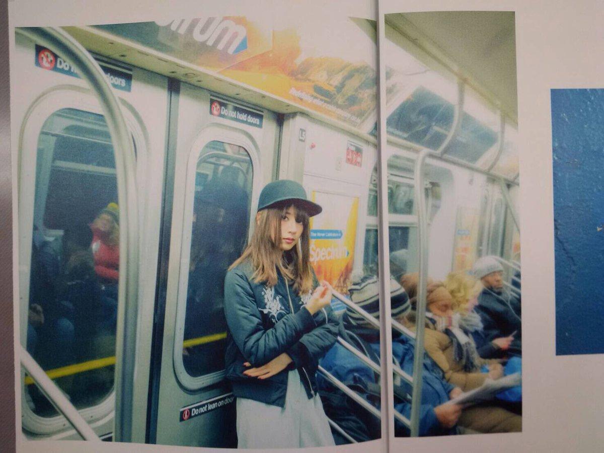 橋本奈々未写真集『2017』中身チラ見せ第2弾。ブルックリンでは地下鉄移動も体験した、ななみんでした…