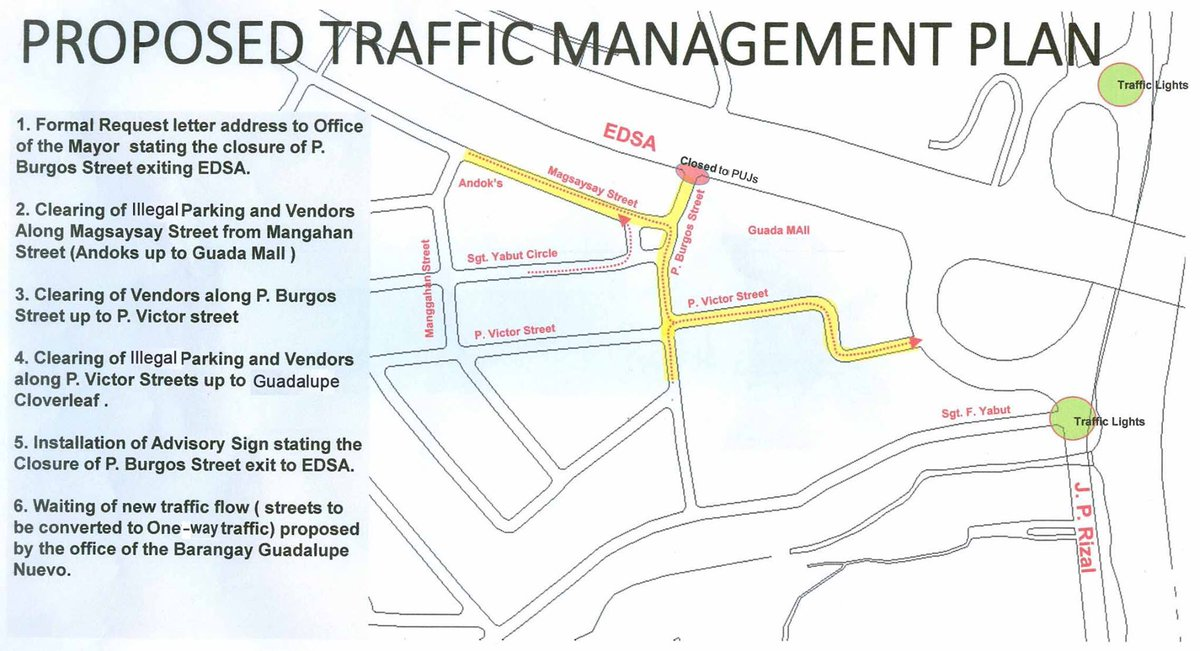 official mmda on twitter look proposed guadalupe traffic management plan to improve traffic. Black Bedroom Furniture Sets. Home Design Ideas