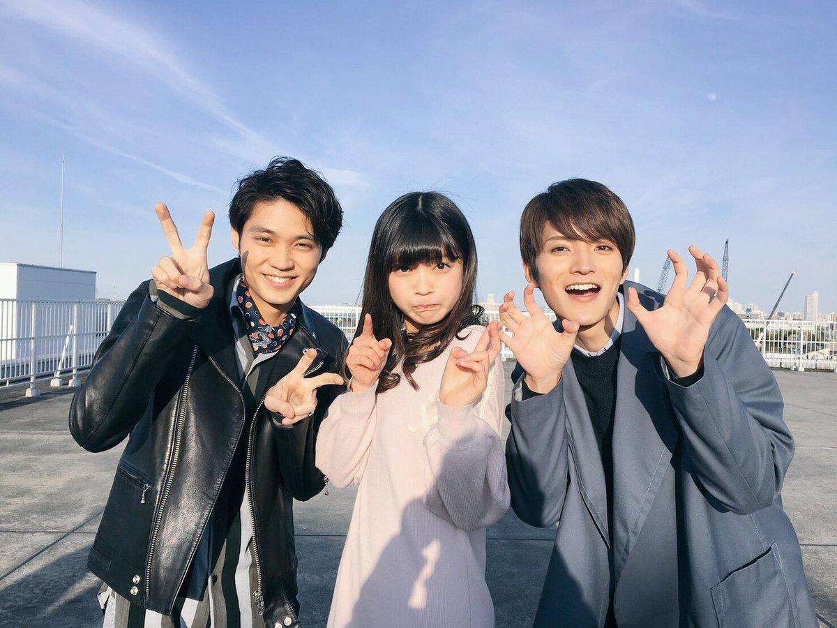 今日は、お久しぶりにお兄ちゃんと磯村くんと取材でした☺️! 久しぶりに会えて嬉しくてつい変顔しちゃい…