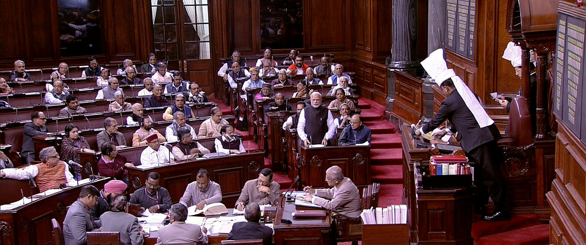 Spoke in the Rajya Sabha in reply to the Motion of Thanks on President's Address. Here is the video of my address. https://t.co/8e2yhHGZAQ