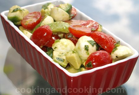 Bocconcini Avocado Salad Recipe, Avocado Recipes