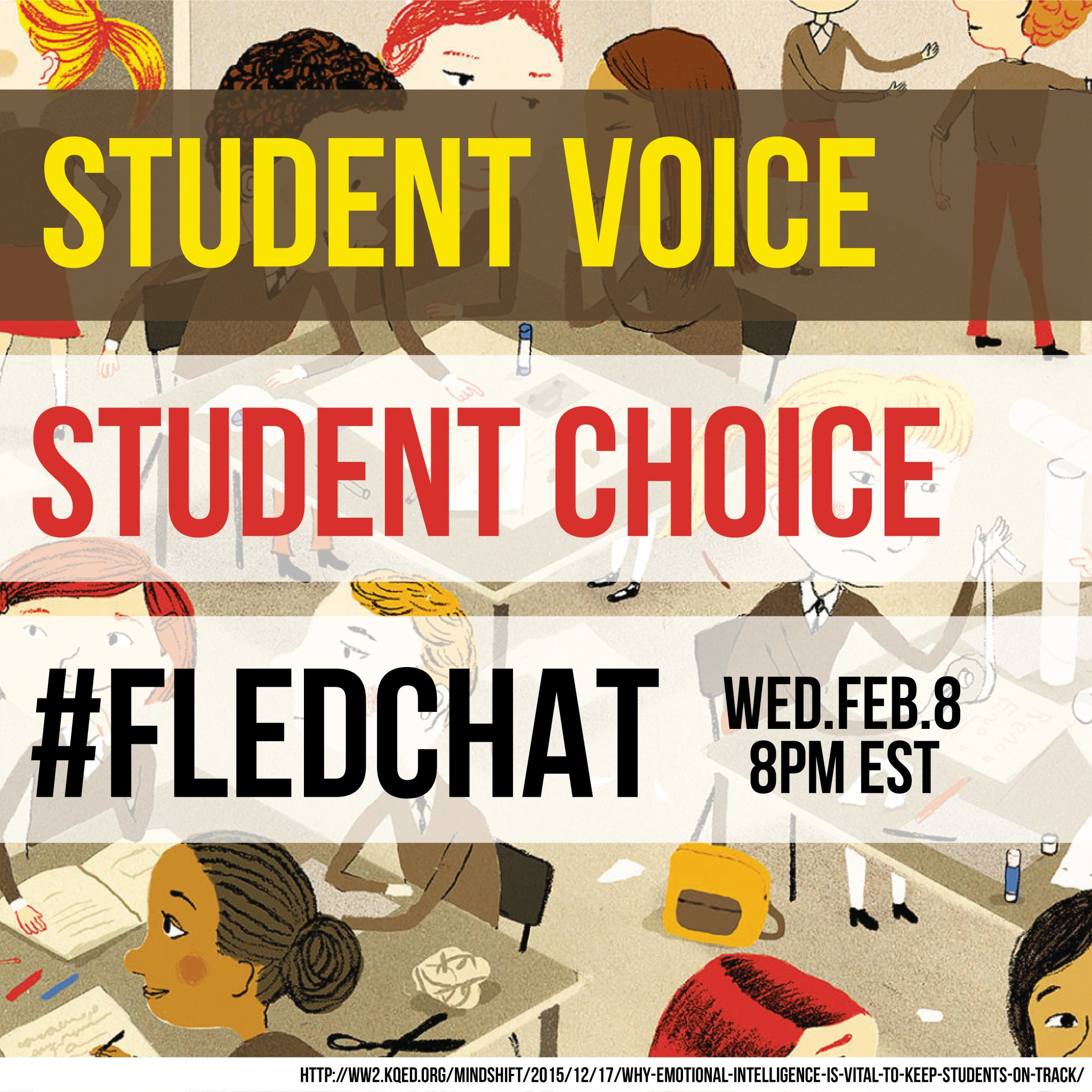 Student Voice and Student Choice - Tonight on #FLEdChat - 8PM EST - Come for the snacks... stay for the conversation! https://t.co/NqKHp0ILmG