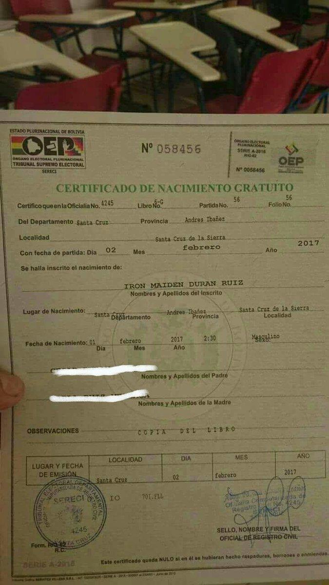 Lujo Certificado De Nacimiento Del Condado De Cameron Imágenes ...