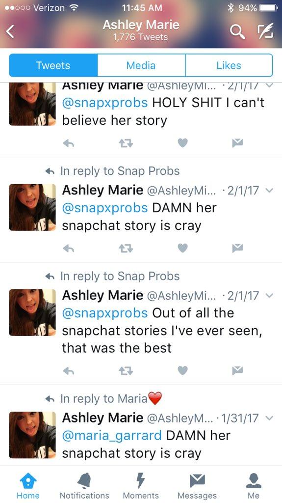 Ashley marie snapchat