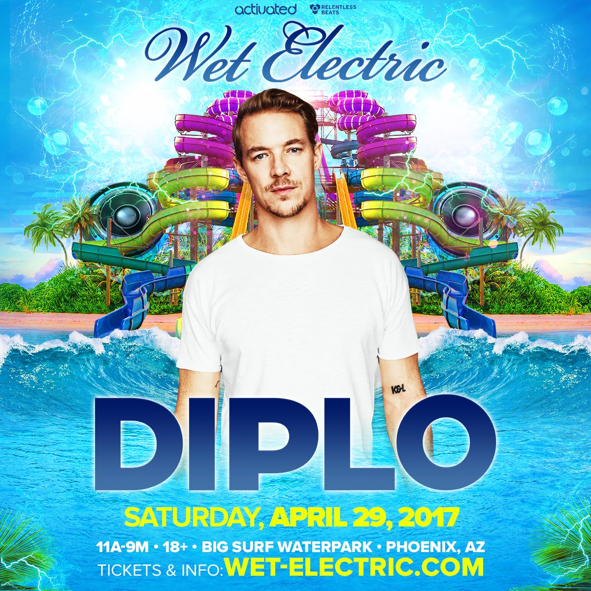 Wet Electric On Twitter Artistannounce Maddecent Boss Diplo Returns To Az Apr 29 For Wetelectric Prices Go Up Fri At 12am