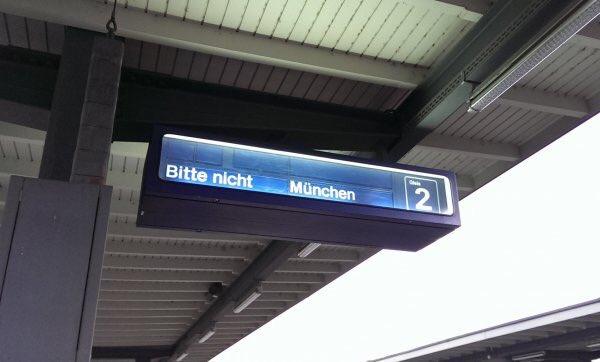 Bitte nicht München.