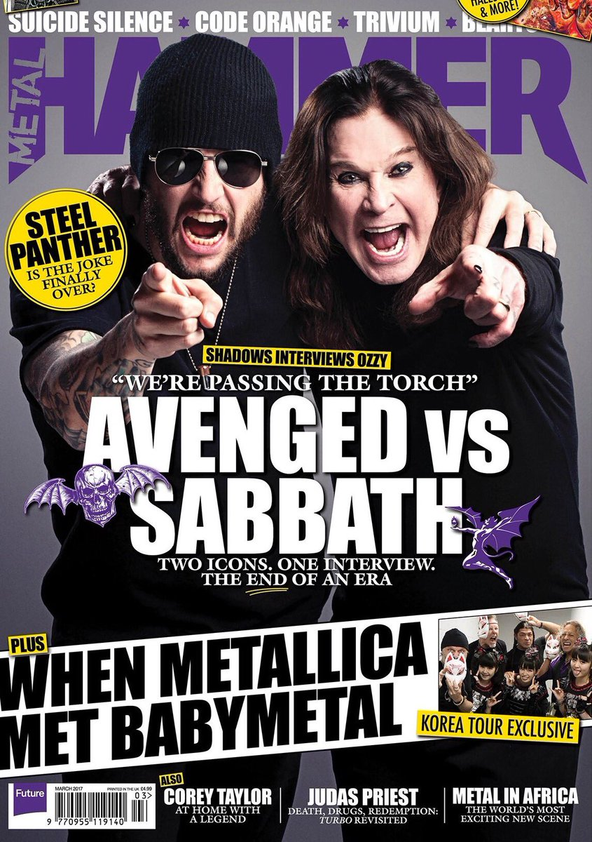 Avenged Sevenfold On Twitter A Couple Of Weeks Ago M Shadows Traveled To Scotland Interview Ozzy Osbourne About The Final Black Sabbath Tour