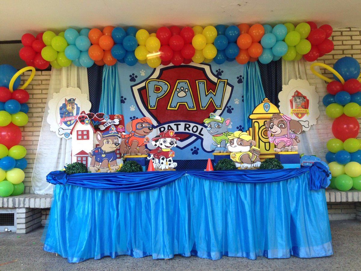 em ol creaciones on twitter diseo y decoracion fiesta cumpleanos pawpatrol fiesta