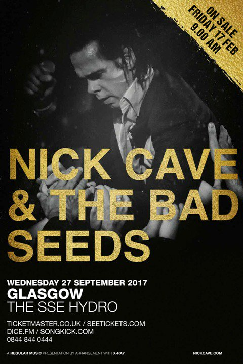 Image result for nick cave glasgow 2017