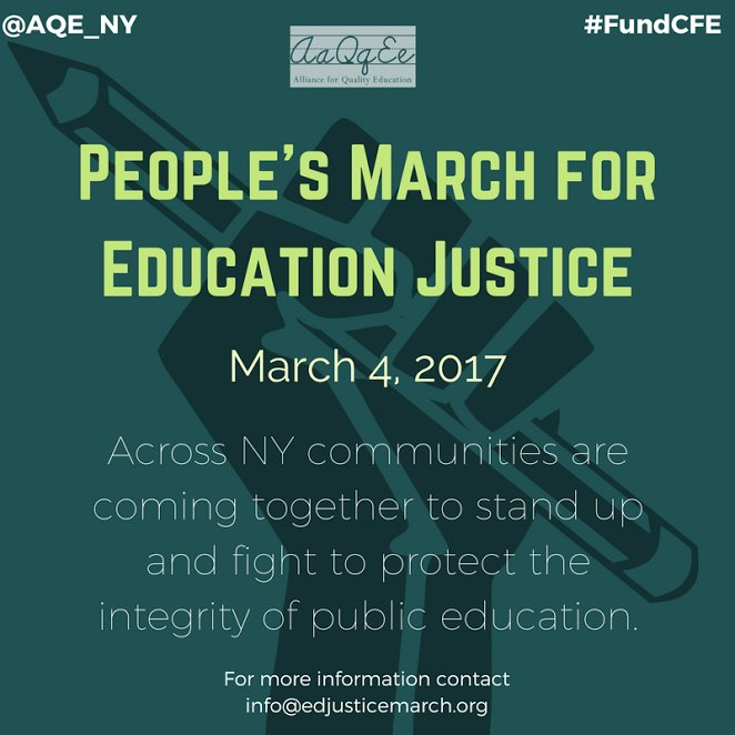 Image result for Text From My Speech at #March4EducationNY
