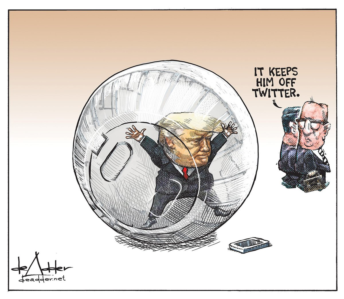 Cartoon for February 8. #Trump #twiter #TrumpPressConference