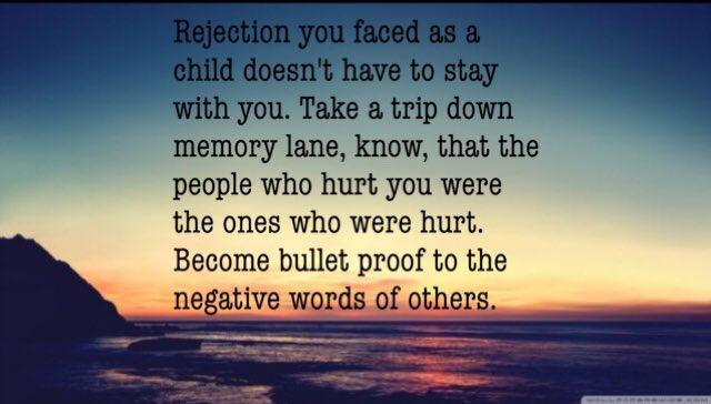 Don't let a #negative past spoil your future.  #rejection #past #refra...