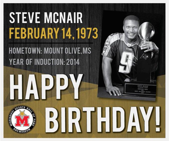 Happy Birthday, Steve McNair! Learn more: